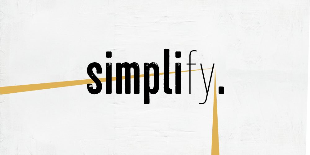 "Workshop ""Simplify"""