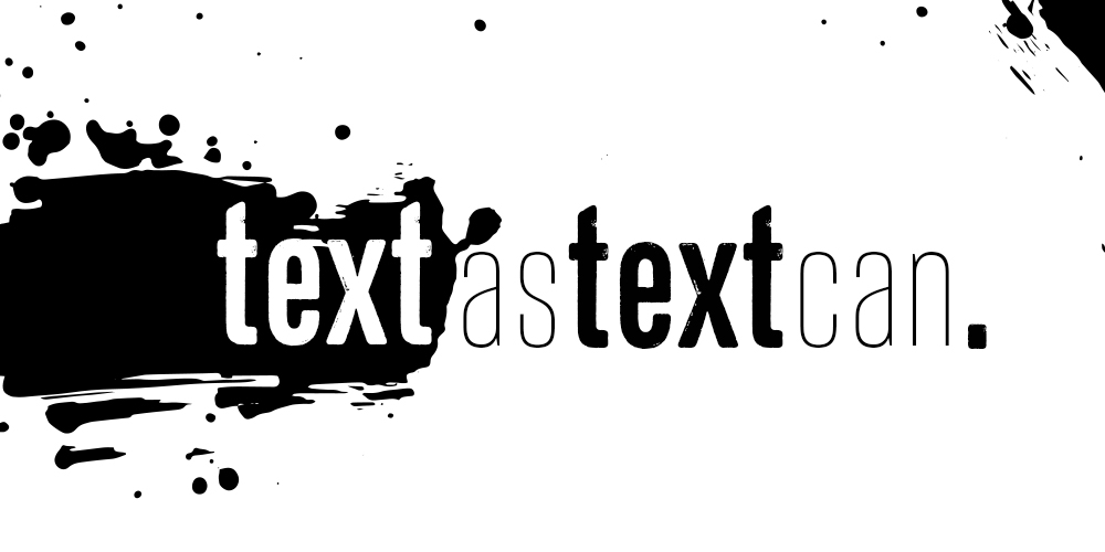 "Workshop ""Text as text can!"""